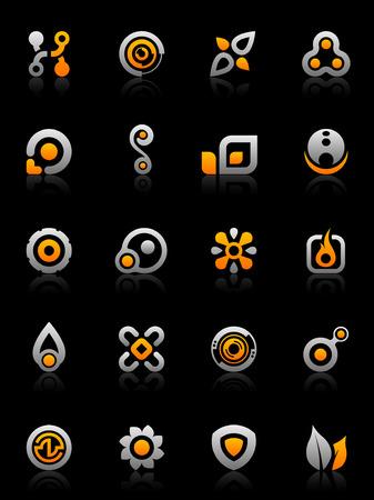 Set van 20 design elementen en diverse grafische