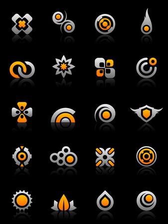 infinito: Conjunto de 20 elementos de dise�o de gr�ficos y diversos