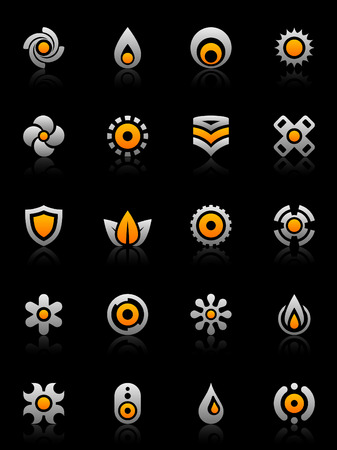 infinity symbol: Set of 20 design elements and various graphics