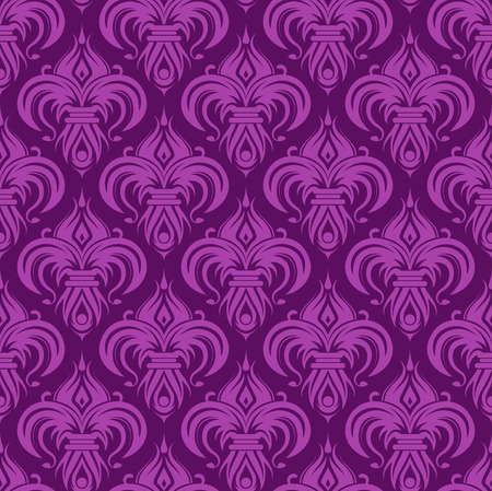 Violet antique seamless wallpaper background design tile Stock Vector - 3143219