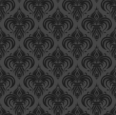 Gray antique seamless wallpaper background design tile Stock Vector - 3168513