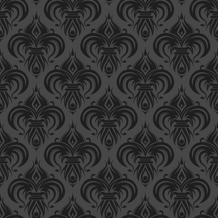 on gray: Gray antique seamless wallpaper background design tile