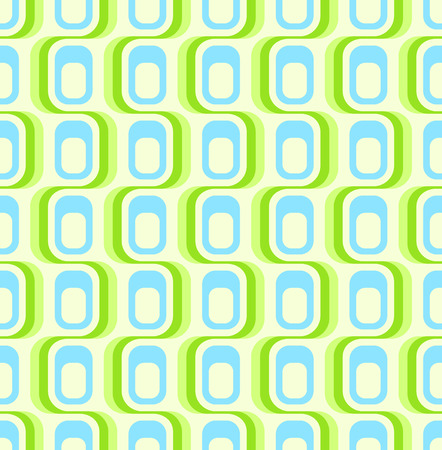 retro revival: Retro green blue seamless pattern, tiles in any direction.
