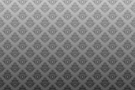 Gray antique seamless wallpaper background pattern design Banco de Imagens - 3275573