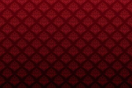 暗い赤花のシームレスな壁紙の背景パターン
