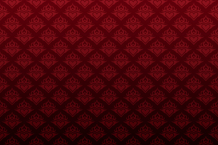 Dark red  floral seamless wallpaper background pattern Vector