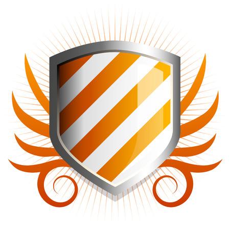 governmental: Brillante de color naranja con el emblema protector de vid acentos