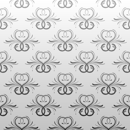 on gray: Gray antique seamless wallpaper background pattern design