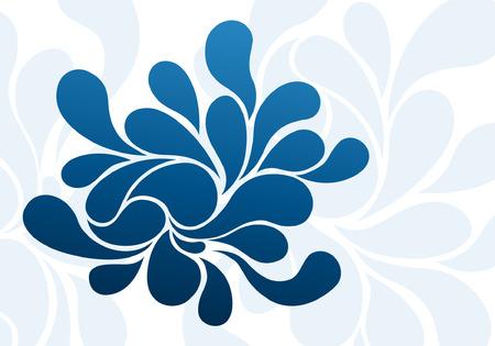 Abstracte blauwe splash druppels achtergrond ontwerp
