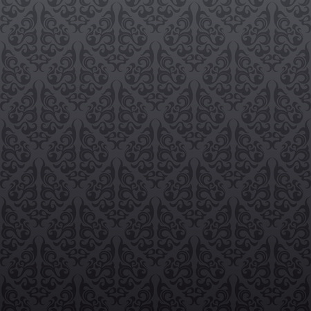 Gray floral seamless wallpaper background pattern design Ilustrace