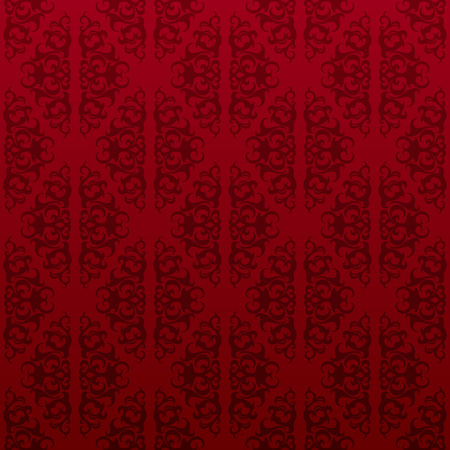 Red floral seamless wallpaper background pattern design Vector