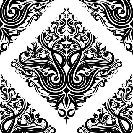 Naadloze zwarte bloem achtergrond patroon ontwerp
