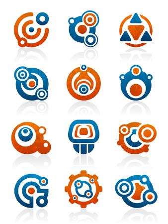 Set of 12 abstract tribal design elements and graphics Фото со стока - 5657266
