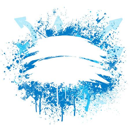 Luce blu e bianco grunge freccia vernice splatter design  Archivio Fotografico - 5921065