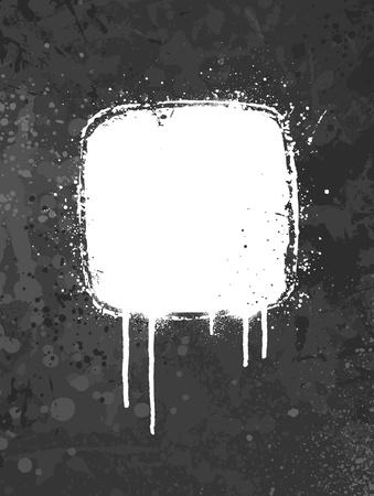 graffiti: Blanco y gris pintan el dise�o de fondo grunge