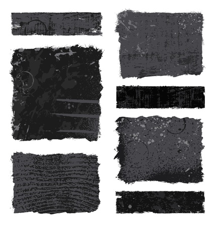 Set of various black and gray grunge banner designs Stock Vector - 9573751
