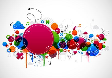 Abstract colorful background design with paint splatter eps10 Stock Vector - 9672872