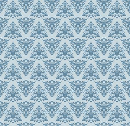 Seamless blue decorative background pattern design Vector