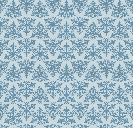 Seamless blue decorative background pattern design Vector