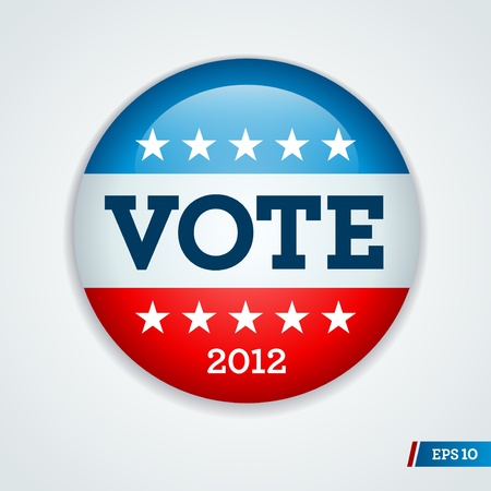 Vote election campaign badge button for 2012 Illustration