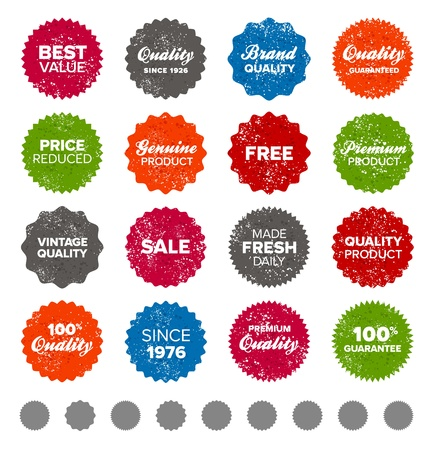 quality guarantee: Set of vintage retro premium quality badges and labels