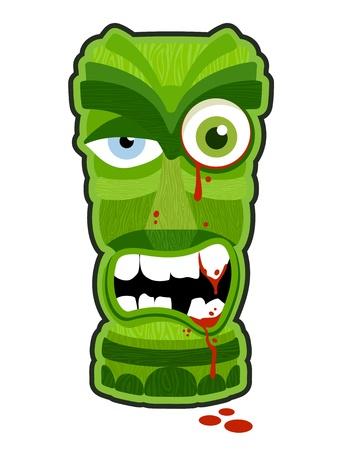 Zombie undead tiki totem vector illustration design Ilustrace