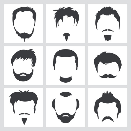 handlebar: Male hair graphics