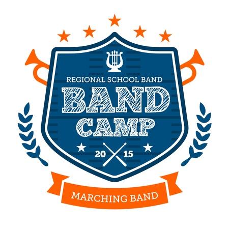 Band Camp marcia tamburo corp emblema distintivo Archivio Fotografico - 21032003