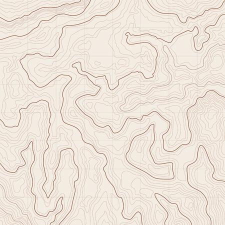 Kaart achtergrond met topografische contouren en kenmerken