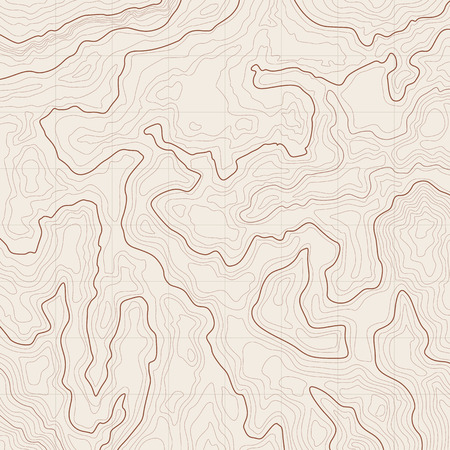 Map background with topographic contours and features Vector