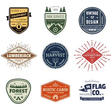 Set of retro vintage badges and label graphics Reklamní fotografie - 37100881