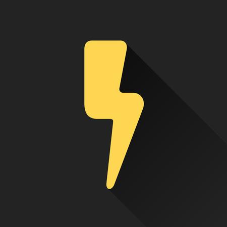 Lightning bolt graphic element icon