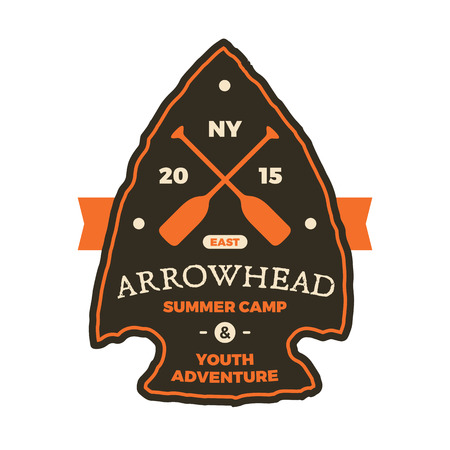 Summer camp arrowhead sign emblem graphic