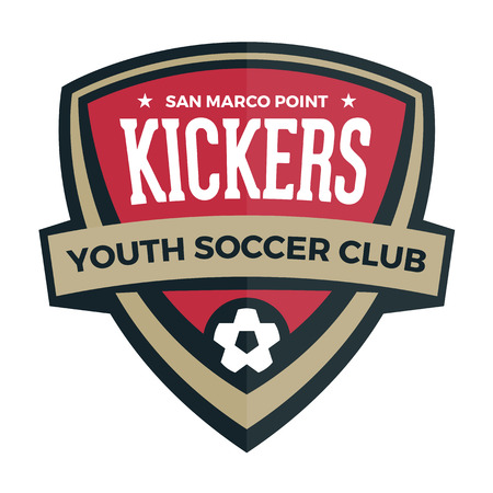 campeonato de futbol: F�tbol f�tbol escudo insignia cresta gr�fico con el texto