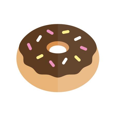 Donut grafische illustratie flat vector pictogram ontwerp Stock Illustratie