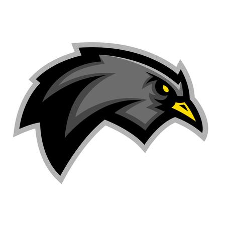 Blackbird sports emblem team mascot graphic design