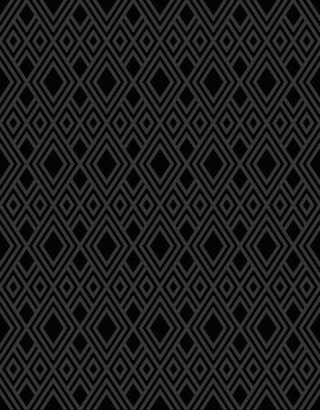 Nahtlose schwarzen Hintergrund Diamant-Muster Form Design