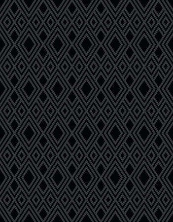diamond background: Seamless black diamond background pattern shape design Illustration