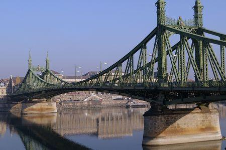 straddle: Bridge in Budapest
