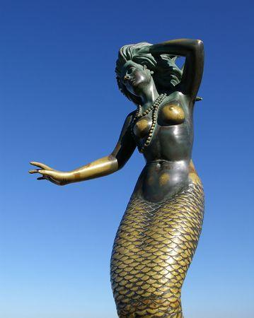 Zeemeermin standbeeld Stockfoto
