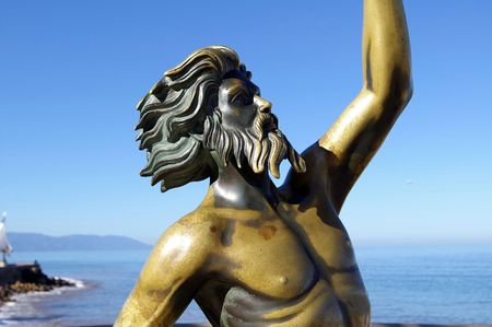 tarnish: King Neptune Stock Photo