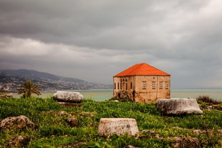 somber: Remains and ruins of ancient seacoast civilization in Byblos, Lebanon