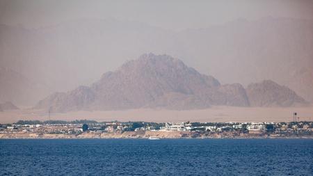 naama bay: Landscape of the coastline of Sinai Peninsula in Egypt on the Red Sea.