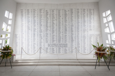 The names of all the brave sailors and marines who lost their life to serve their nation on USS Arizona on December 7, 1941. Rest in Peace.