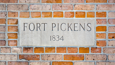 Ruins of Fort Pickens State Park. Fort Pickens was used during the Civil War to protect the coastline from coastal attack. 写真素材