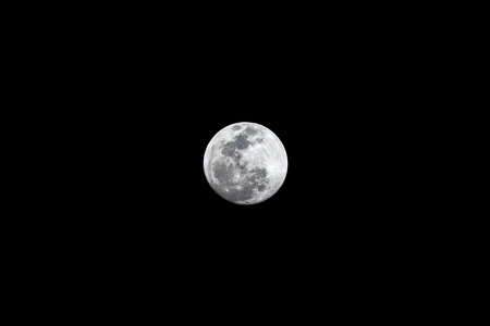 Super moon the night before the super blood wolf moon of January 2019.