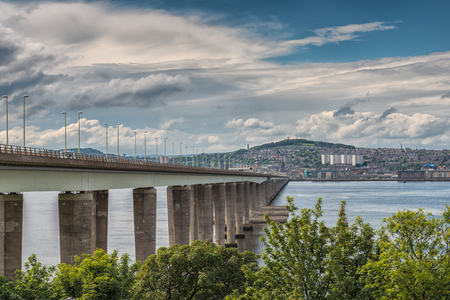The Tay Road Bridge serving Dundee and the East Coast of Scotland Stock Photo