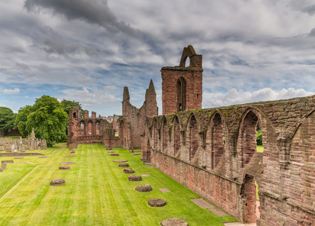Arbroath Abbey Ruins Scotland Stock Photo