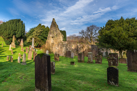 Kirkoswald,Scotland,UK-November 25 ,2017: Kirkoswald Church and graveyard where many of the characters in Robert Burns poem Tam o Shanter are buried and set in the heart of Burns country.