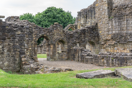 The Old Transept Ancient Ruins Kilwinning Abbey Scotland. This particular area was known as the 'Warming House' Stock Photo